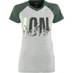 ION Letters Scrub AMP - Maillot manga corta Mujer - gris/verde